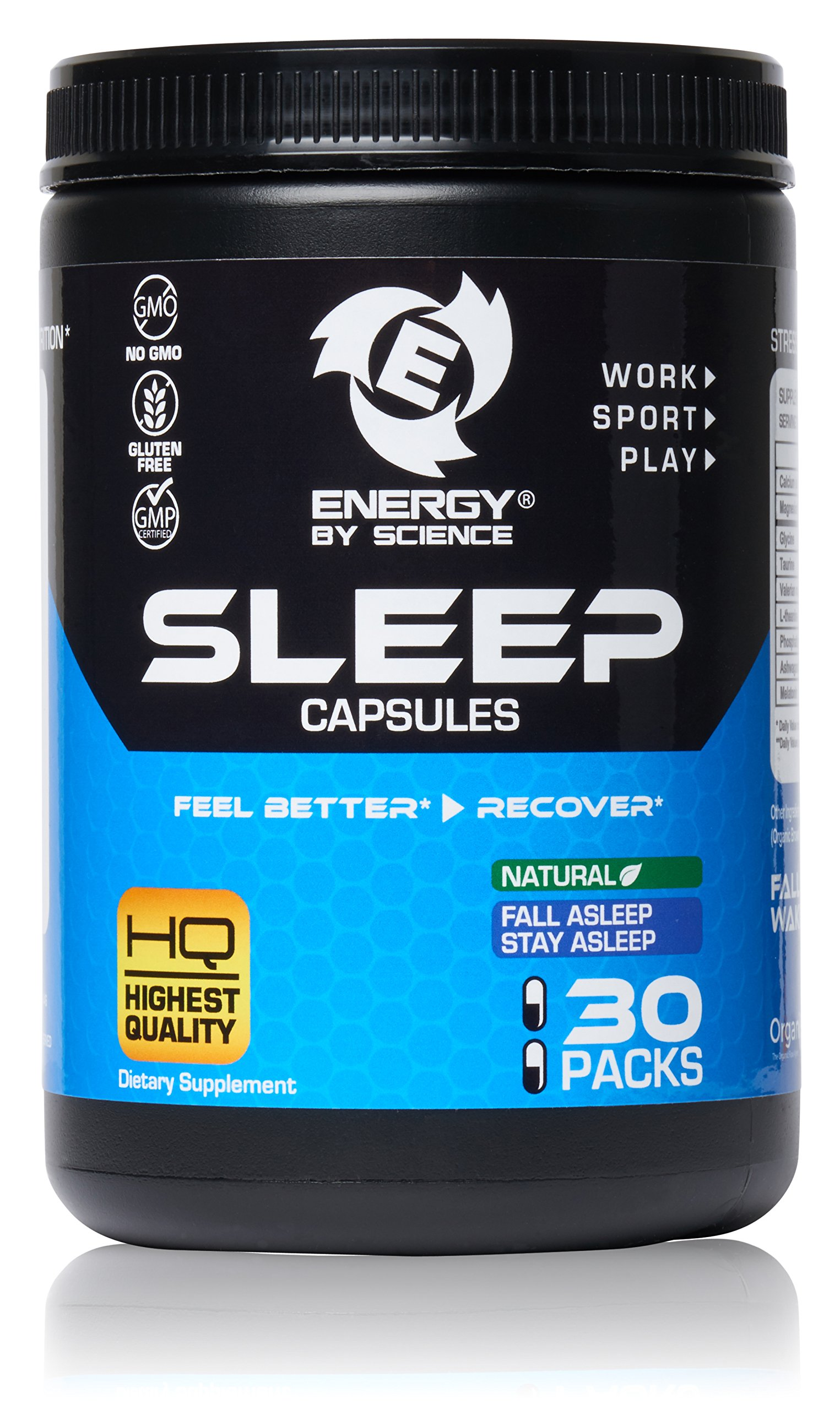 Best Natural Sleeping Aid Sleep Boosting Pills Extra Strength Capsules Supplement - Rest and Recover