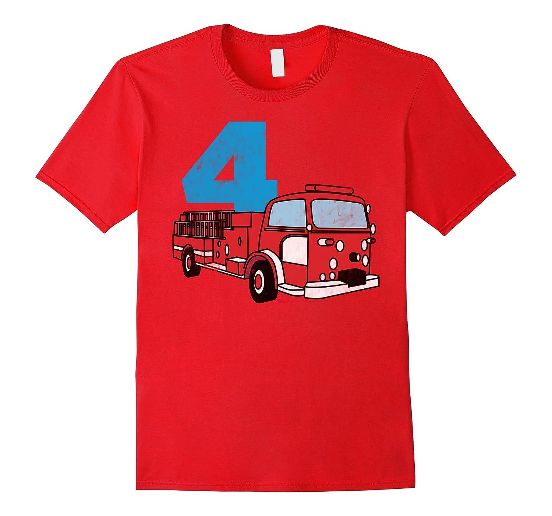 4th Fireman Happy Birthday T Shirt for Kid Boys and Girls-TH
