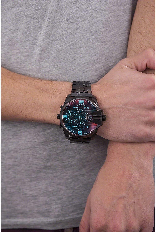 【ディーゼル】DIESEL Uber Chief Black Dial Men's Dual Time Watch DZ7373/ディーゼル 腕時計 DZ7373 メンズ 腕時計  [並行輸入品]