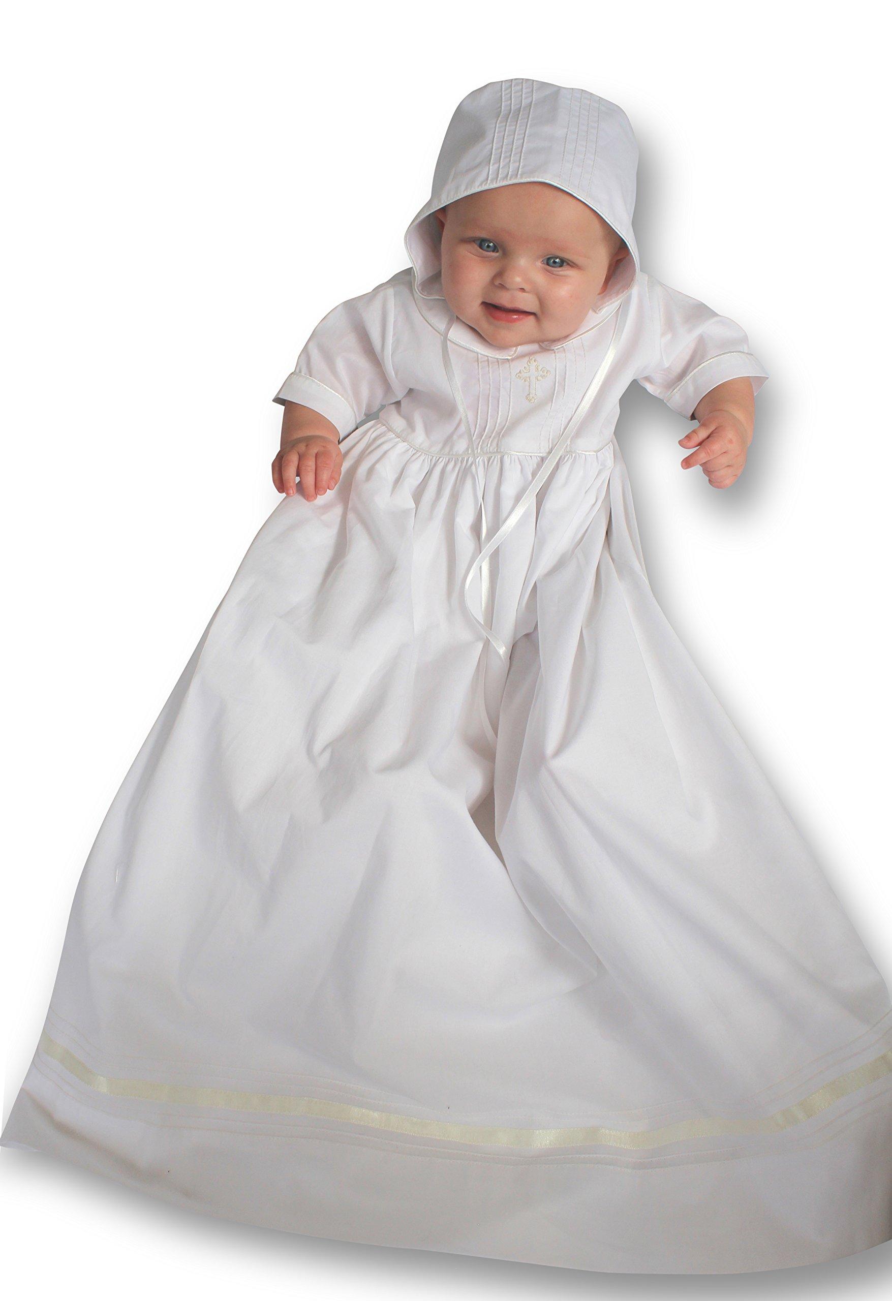 Strasburg Children Babies Alex Christening Gown Baptism Dress Infant White Cross (6 Month)