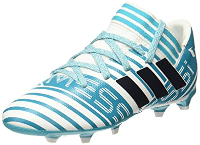 f992baf18e63 Adidas Boys Nemeziz Messi 17.3 Fg J Ftwwht/Legink/Eneblu Sports Shoes - 13