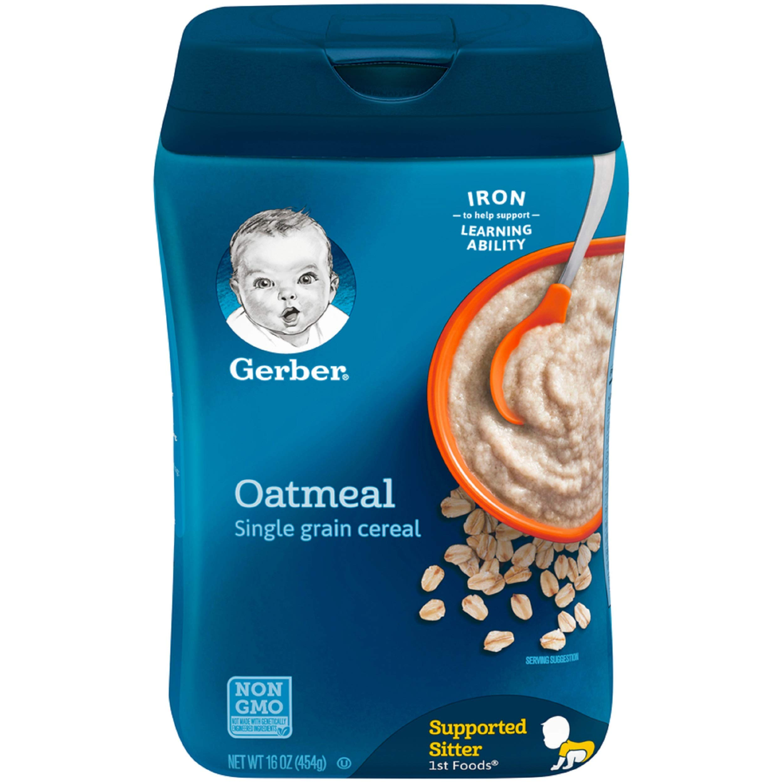 Gerber Single-Grain Oatmeal Baby Cereal, 16 oz by Gerber