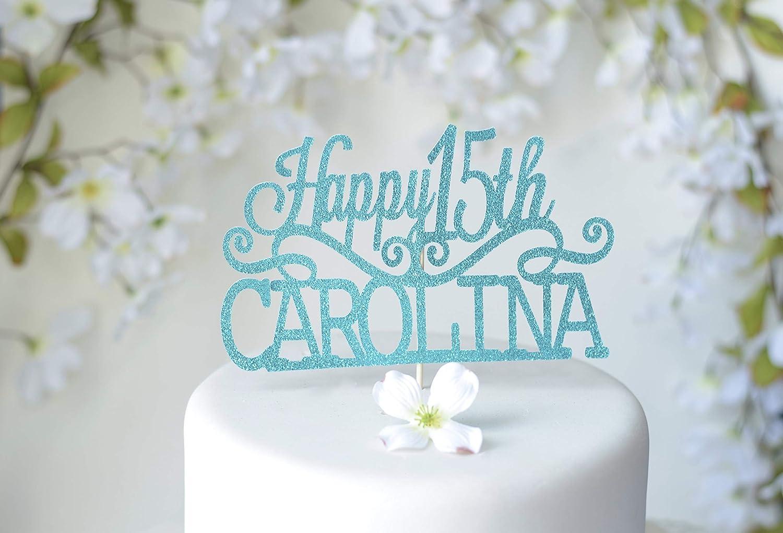 Decoración para tarta Fiesta de Quince Años para quinceañera ...
