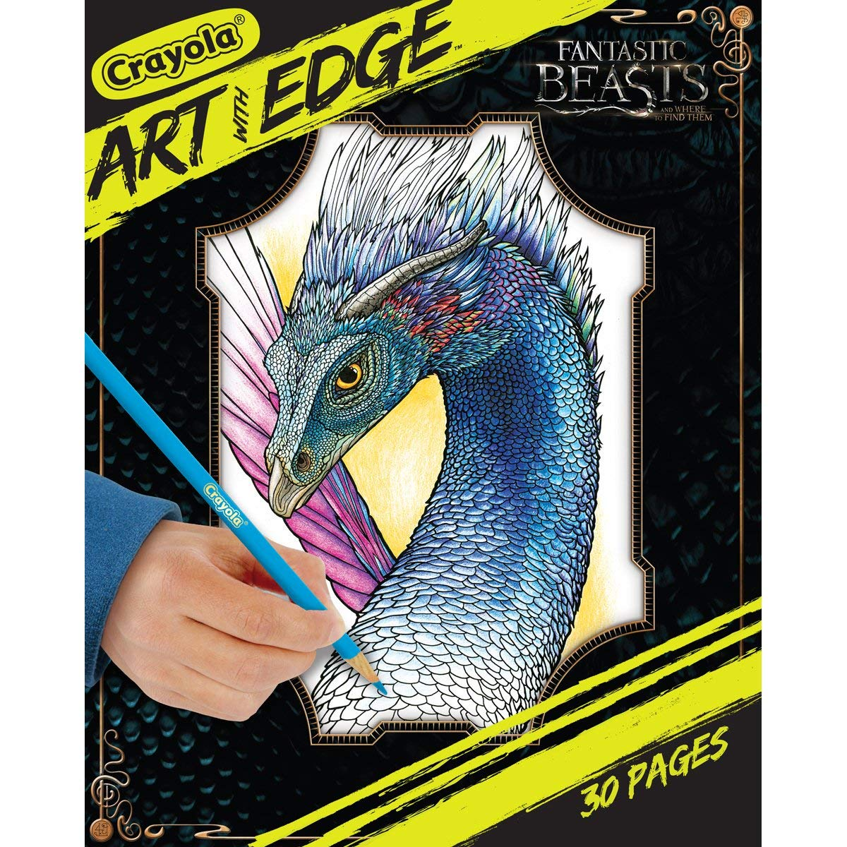 30 Pages 04-0117 Crayola Art With Edge Gift Fantastic Beasts Coloring Book