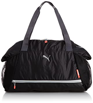 46933aa442 Puma Women s Bag Fit at Workout Bag Black Black Periscope Cayenne Size 42