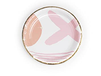 Plum and Punch 9u0026quot; Dinner Paper Plate Set of 8 with Pink ...  sc 1 st  Amazon.com & Amazon.com: Plum and Punch 9