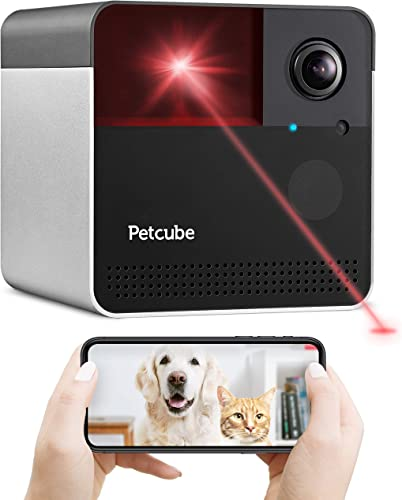 New 2020 Petcube Play 2 Wi-Fi Pet Camera with Laser Toy Alexa Built-In, for Cats Dogs. 1080P HD Video, 160 Full-Room View, 2-Way Audio, Sound Motion Alerts, Night Vision, Pet Monitoring App