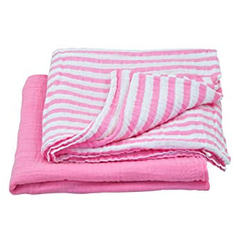 green sprouts Muslin Swaddle Blankets made from Organic Cotton (2 pk)   Generously sized
