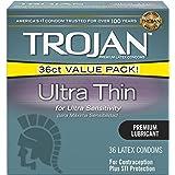 Ice Fire Trojan Ultra Thin Lubricated Condoms 36ct