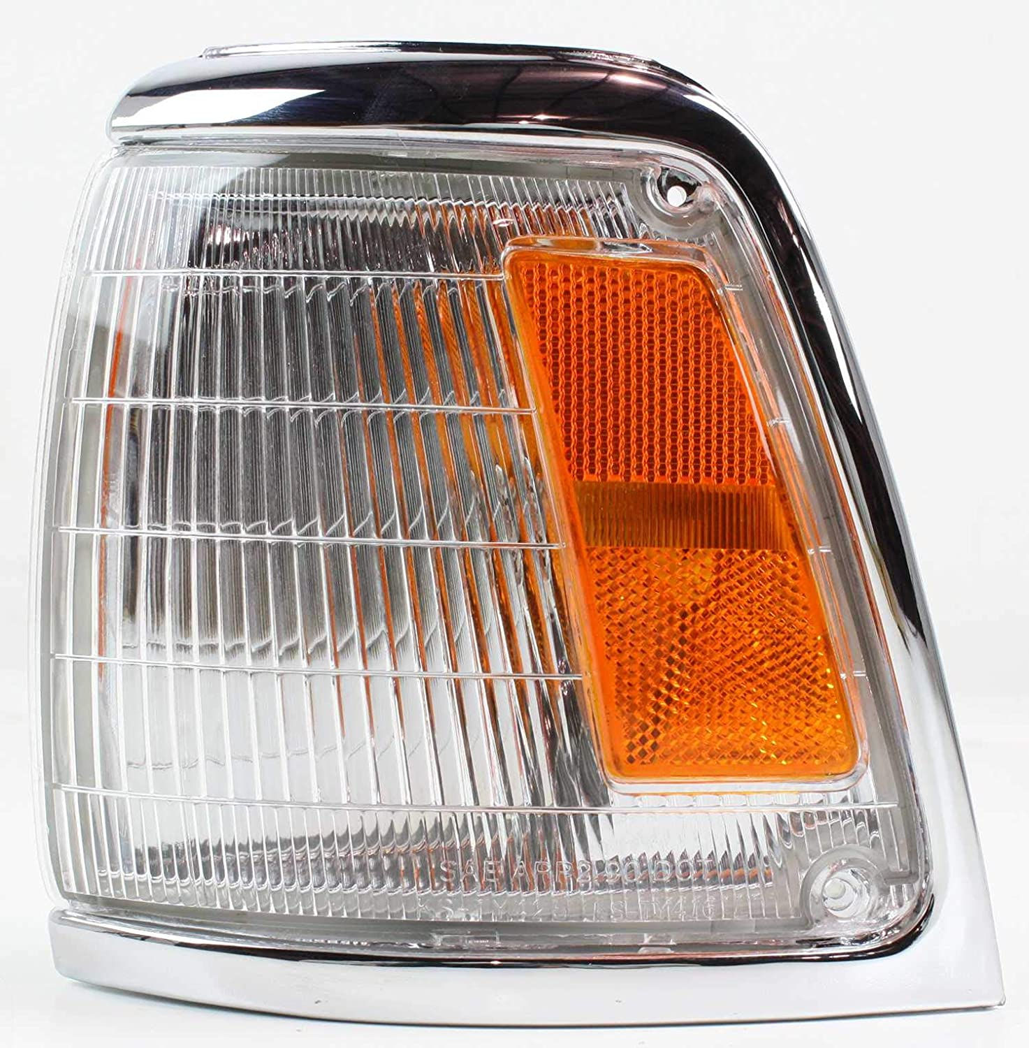 Corner Light Compatible with 1992-1995 Toyota Pickup Plastic Clear /& Amber Lens With bulb Driver Side