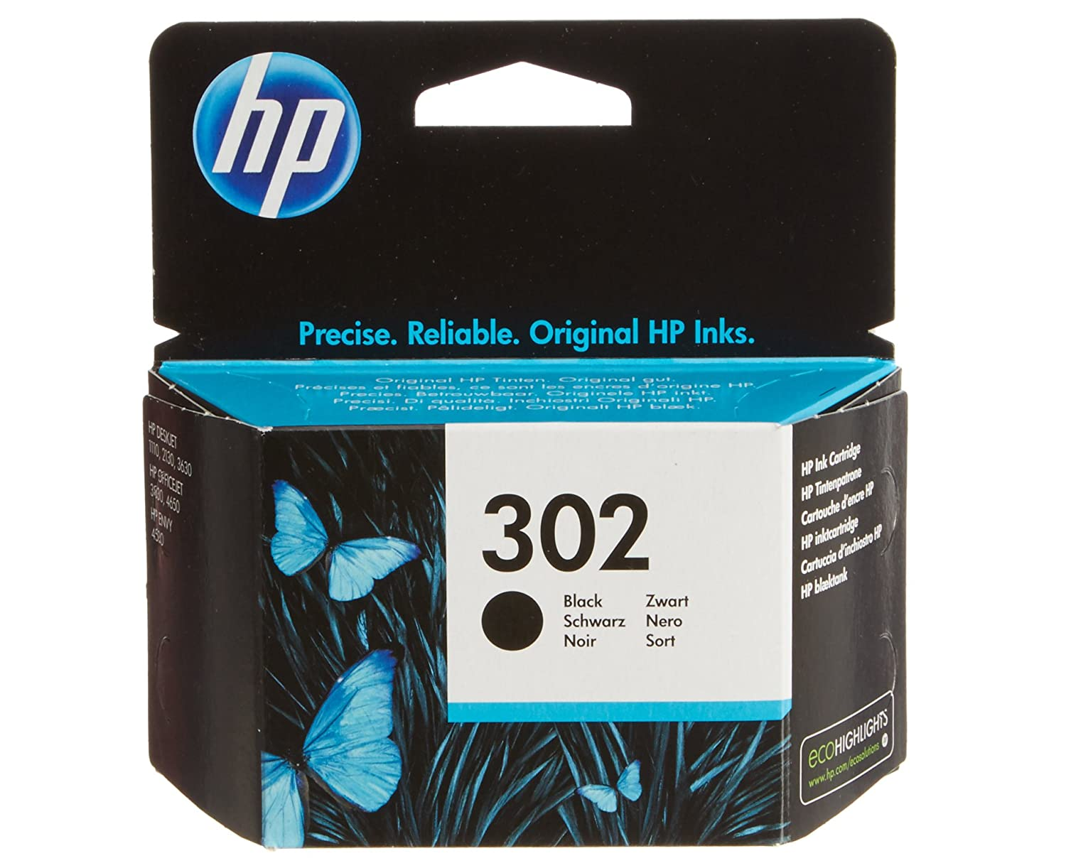 HP Black Original Ink Cartridge Cartucho de tinta para impresoras Negro Estándar