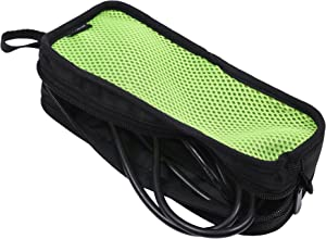 Cable Organizer Case Bag Portable Travel Computer Accessories Organizer Zipper Mesh Pouch for Laptop Mouse, Power Bank, USB, Adapter, Charger-Green