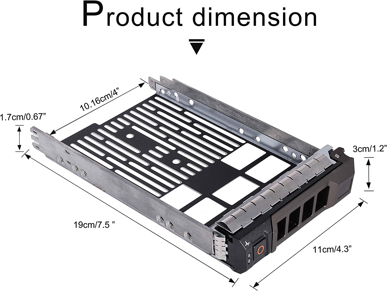 "3.5/"" SAS SATA Drive Tray Caddy for Dell F238F X968D G302D R710 T410 T610 T710 US"