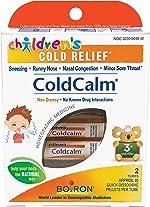 Boiron Children's Coldcalm, 2 Count (80 Pellets per Pack), Homeopathic Medicine