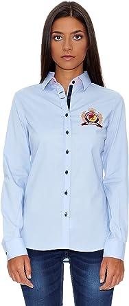 La Española Camisa Mujer Azul Celeste ES 42: Amazon.es: Ropa y accesorios