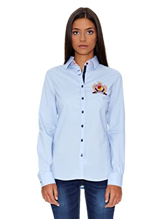 La Española Camisa Mujer Azul Celeste ES 42: Amazon.es: Ropa y ...