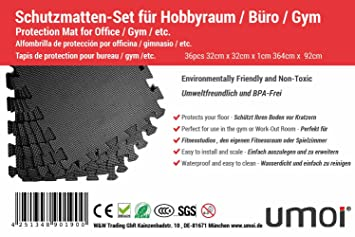 36 Extrastarke BPA Freie   Profi Schutzmatten Aus EVA Schaumstoff U2013 Puzzle  Unterlegematte Für Sicheren Bodenschutz