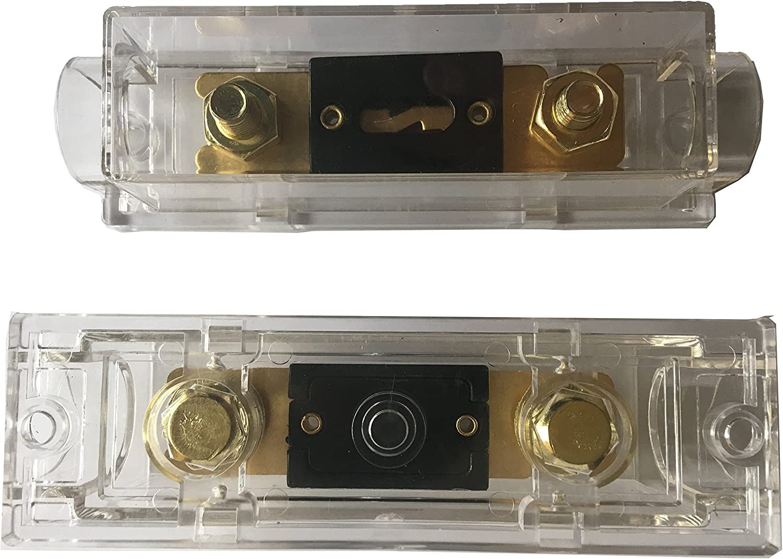 Porte-fusible ANL KOLACEN Fusible ANL plaqu/é Or 100 A Paquet de 2