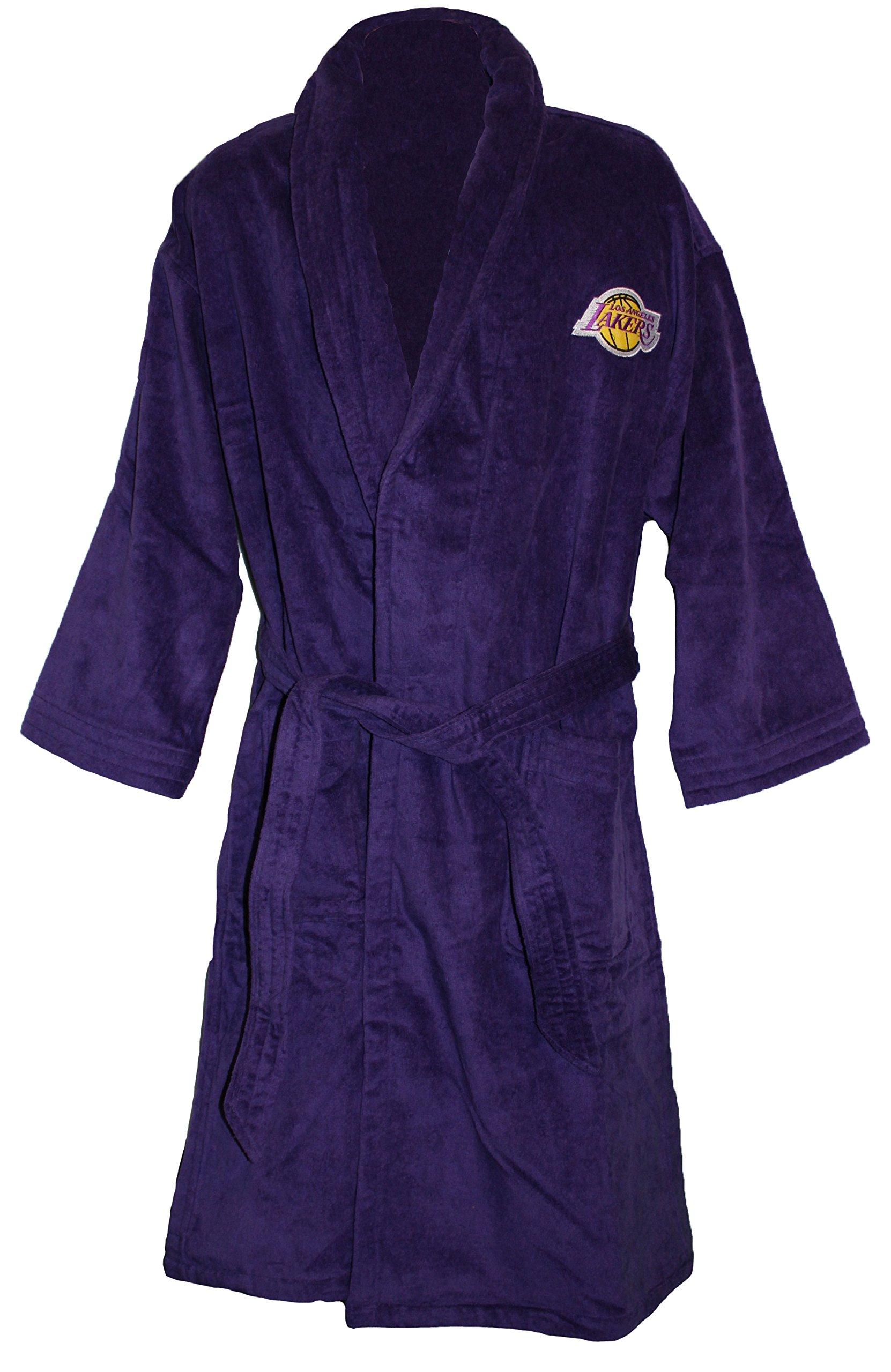NBA Los Angeles Lakers Luxury Bath Robe, Purple, 100% Cotton by McArthur