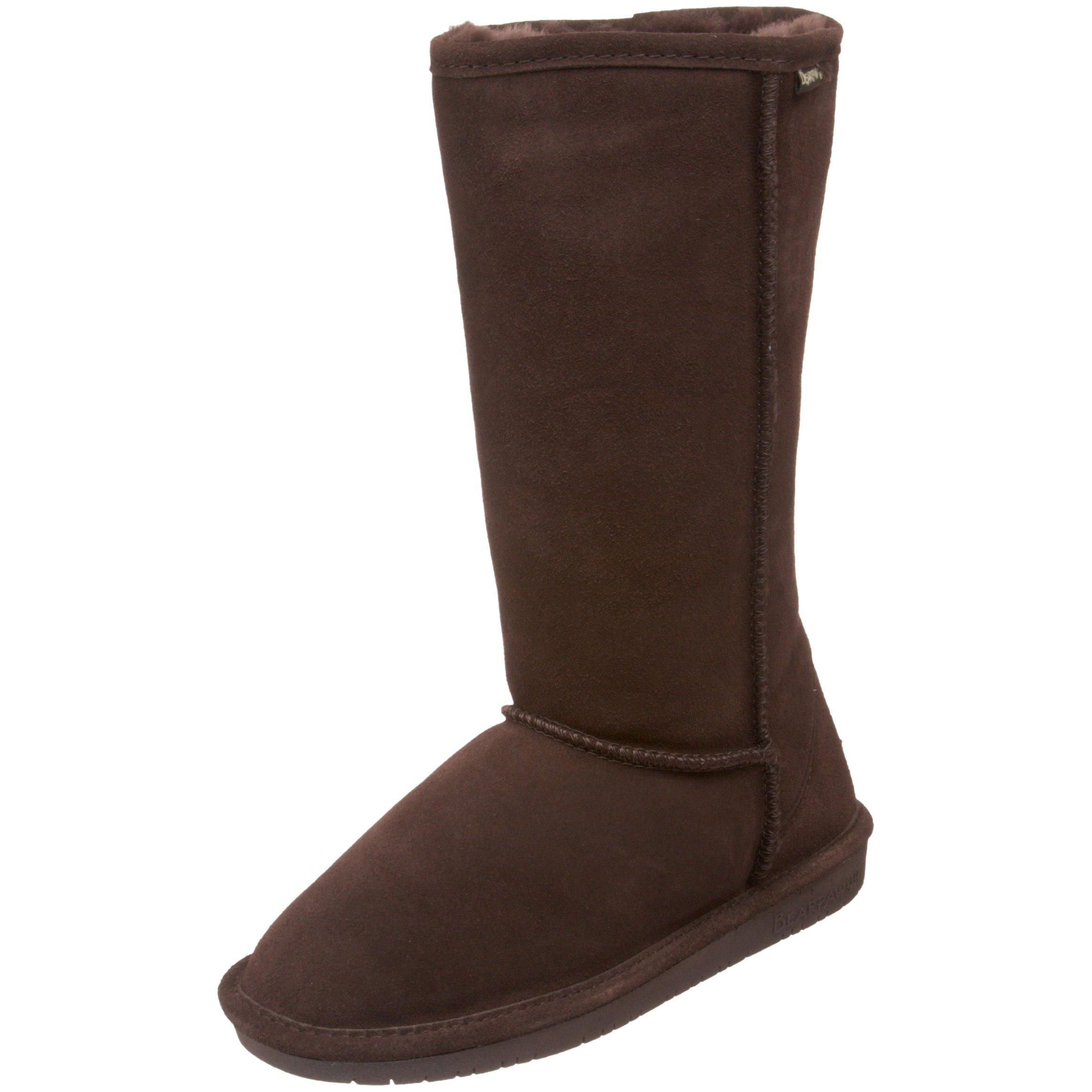 BEARPAW Women's Emma Tall Winter Boot, Chocolate, 10 M US