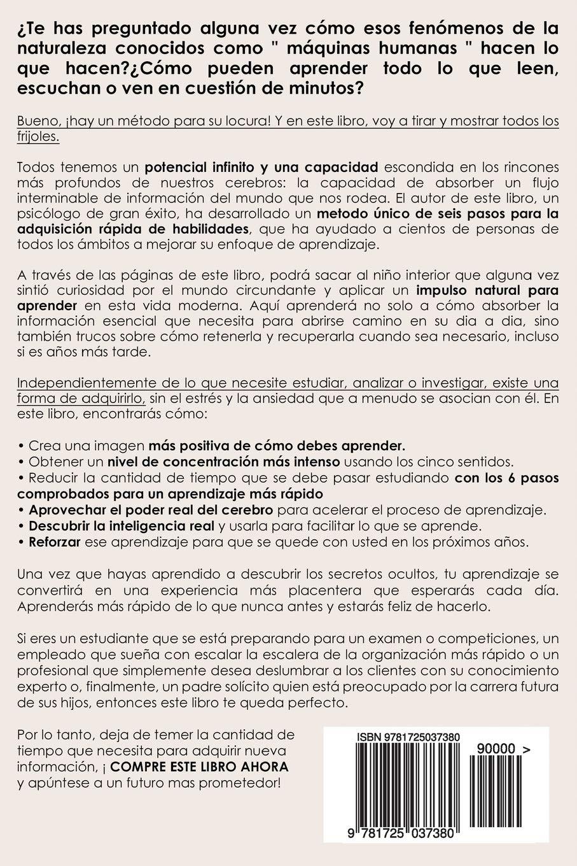 ... para Aprender a Leer Rapido, Mejorar tu Comprensión y Memorización. ...  de la Memoria) (Spanish Edition): Amber Marino: 9781725037380: Amazon.com:  Books
