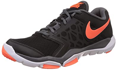 Nike Men S Flex Supreme Tr 4 Black Total Crimson And White Running Shoes 7