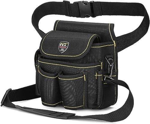 Pinprin Utility Waist Tool Bag Canvas Tool Organizer Pocket Electricians Belt Pouch