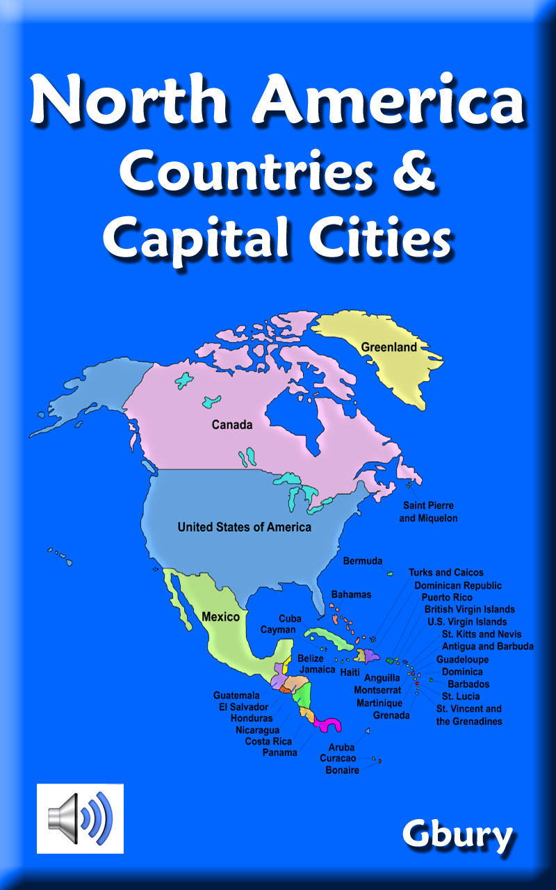 Amazoncom North America Countries and Capital Cities Appstore for