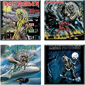 Iron Maiden 4 X Fridge Magnet Albums Flight 666 Various Designs Set
