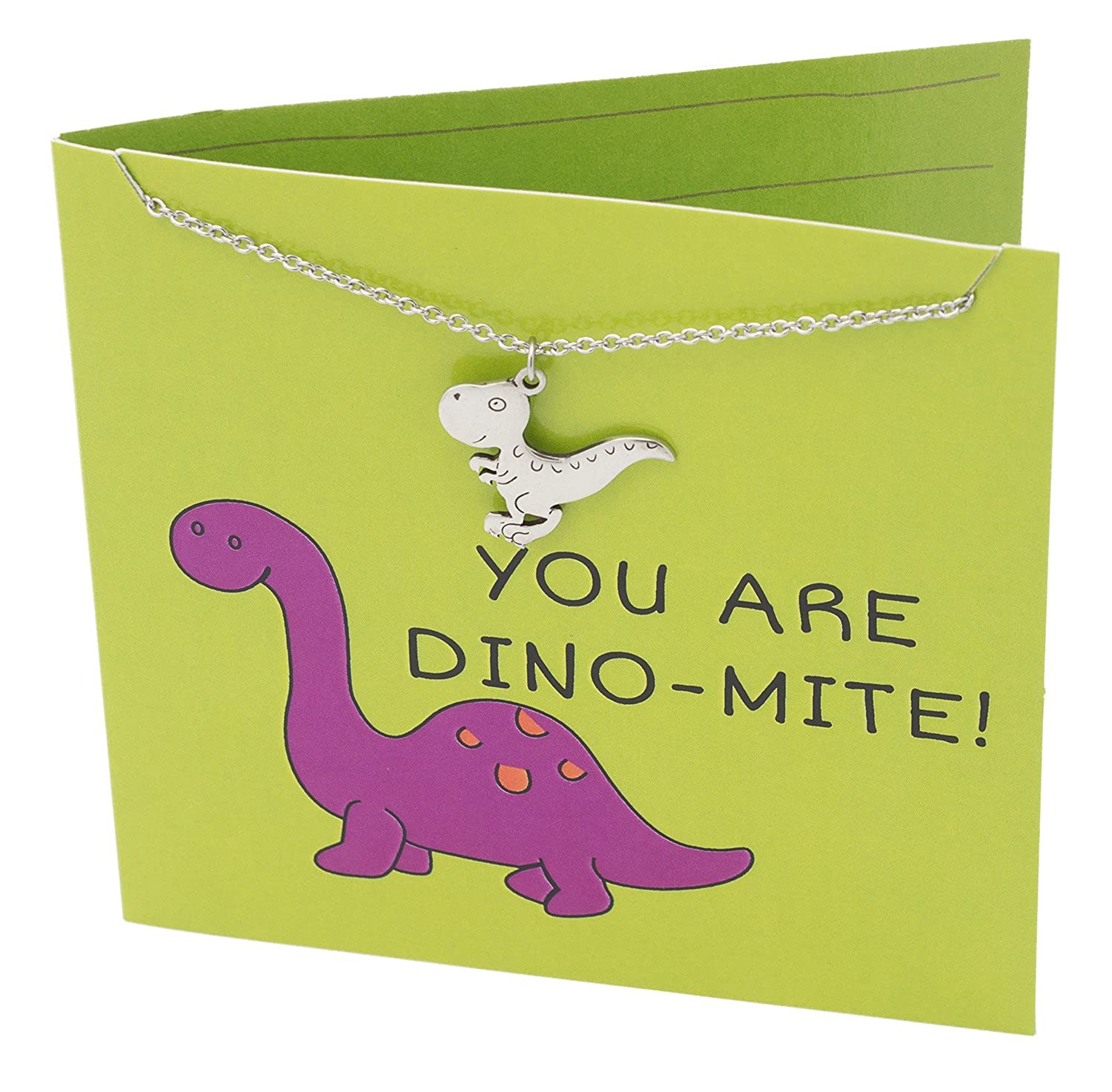 Amazon Quan Jewelry Dinosaur Pre Historic T Rex Necklace Grandmother Graduation Gifts To Grandson You Are Dino MITE Funny Puns Happy Birthday Cards
