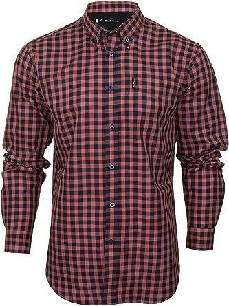 Ben Sherman - Camisa de cuadros a cuadros para hombre Rojo rosso XL: Amazon.es: Ropa y accesorios
