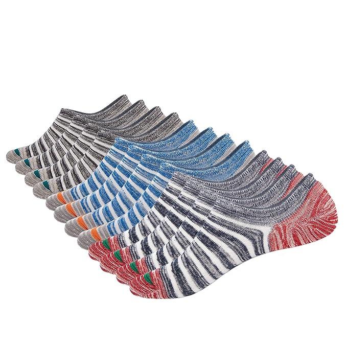 ... de Algodón de Corte bajo Forro Calcetines Ocasionales Invisibles Zapatillas de Deporte Cómodas Calcetines Planos Zapatos Náuticos Mocasines: Amazon.es: ...