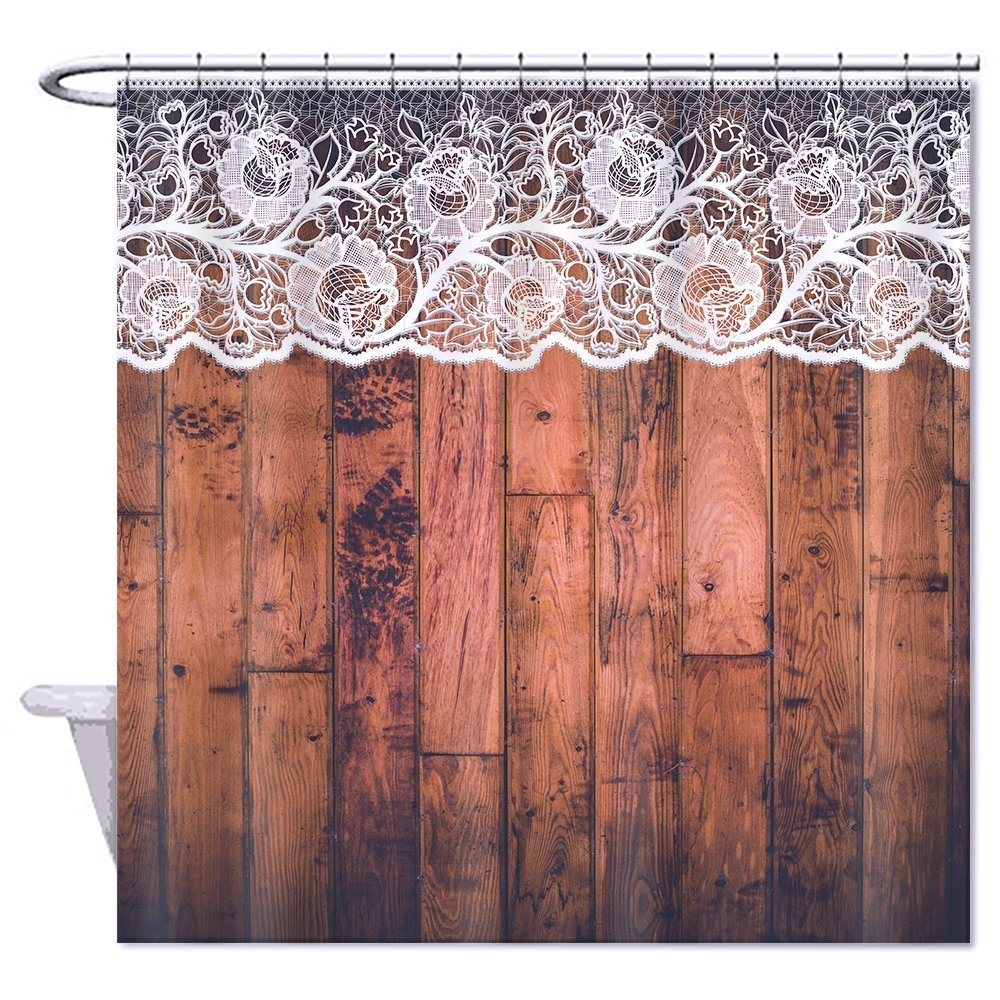 Amazing Waterproof Polyester Shower Curtain Bathroom Bath Decor Rustic Country Door  Barn