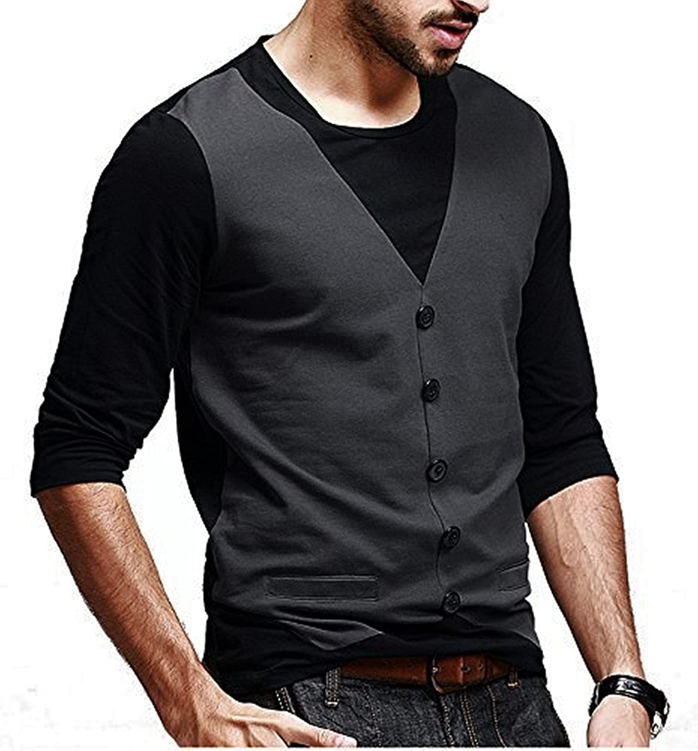 4e298568a Try This Cotton , Casual , Partywear Waistcoat Style T Shirt For Men And  Boys: Amazon.in: Clothing & Accessories