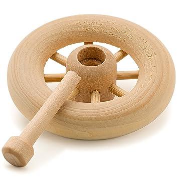 Ruedas Spoked juguete de madera 2 - 1/4 (incluye ejes - Pinzas por pájaros carpinteros Crafts: Amazon.es: Juguetes y juegos