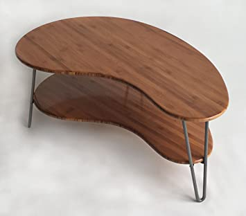 Amazoncom Mid Century Modern CoffeeCocktail Table Kidney Bean