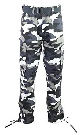 36f7c7ea442 Amazon.com  Access Men s Camouflage Cargo Pants with Belt  Clothing