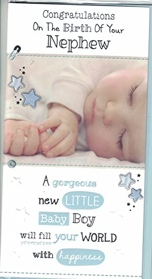 prelude new baby boy card congratulations on the birth of your nephew new baby