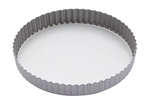 """Kitchen Craft Non-Stick Round Fluted Flan Tin/Quiche Pan with Loose Base, 25 cm (10"""")"""