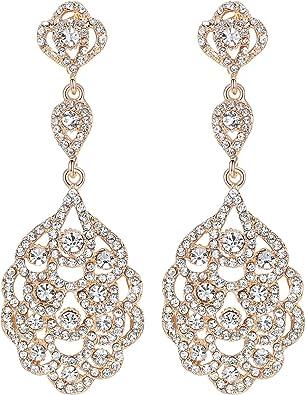 NEW Crystal Champagne Gold Long Chandelier Earrings,Rhinestone Crystal Earring,Bridal Weddings Statement,Golden Shadow,Rose Gold,Dangle