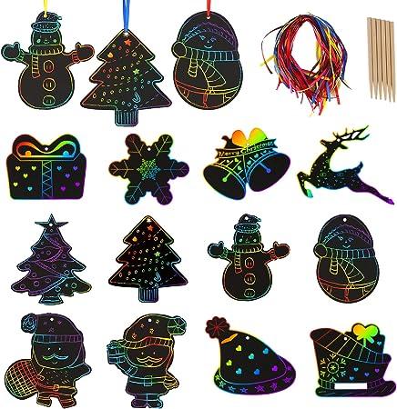 4pcs bois animal étoile arbre Tag Arbre de Noël ornement en bois suspendus décoration