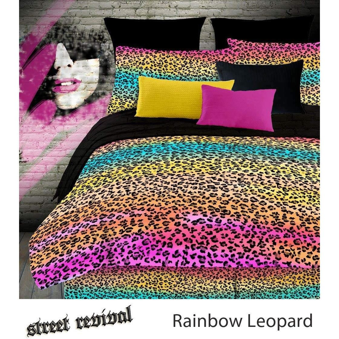 VeratexレインボーコレクションChildren 's Slumber Party LeopardパターンベッドルームSleep Overバッグ、マルチカラー B01MUZVPJS