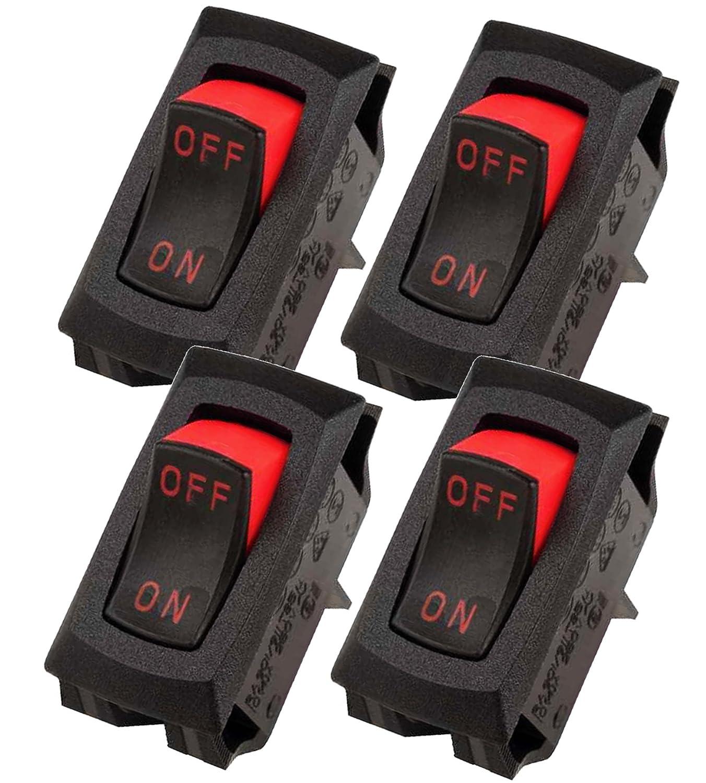 ( Pack von 4) Carling Technologies Switch Rocker Ra911-Vb-B-1-V aus None auf Spst Quick Connect Curved Rocker 16ein 2