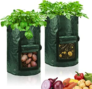 RuizeT Grow Bags10 Gallon Potato Grow Bags for Planting Garden Potswith Durable Handles