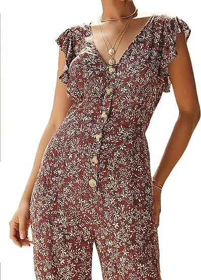 New Look Womens F Check Btn FRNT Romper Jumpsuit Casual Dress