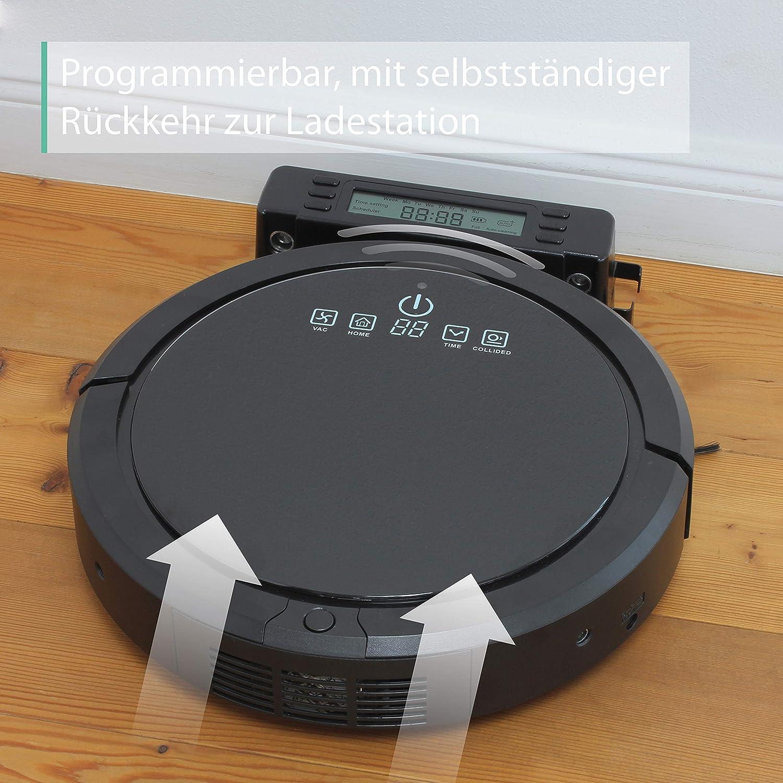 Robot aspirador programable Linsar con estaci/ón de carga y control remoto