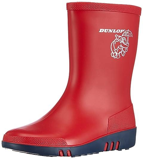 Bottes En Caoutchouc Dunlop Enfants Acifort Mini-rouge 26 - Botas De Agua Unisexe Bebé, Rojo (noir Et Argent), 30 Eu