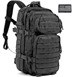 Survival Knight Black Military Backpack, Tactical Molle Assault Pack, Bug Out Bag, Hunting Backpack
