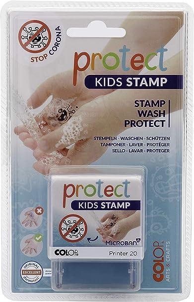 colop protect KIDS Stempel Stop Corona Motivation zum Hände waschen kinder