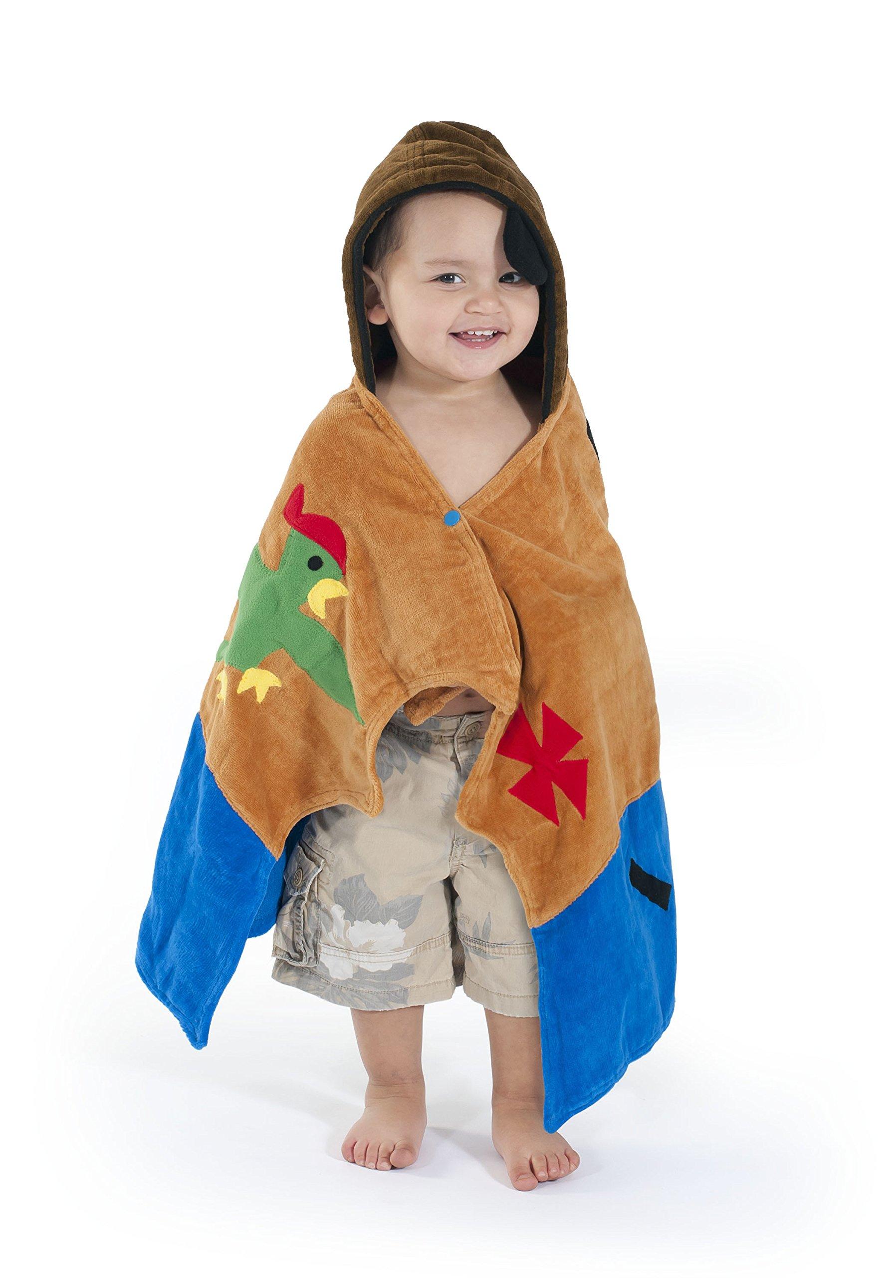 Kidorable Pirate Toddler Towel, Brown, Medium, 3-6 Years by Kidorable (Image #3)